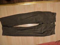Levi Grey Corduroy trousers, w34 l32