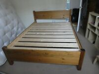 Wooden bed frame King size