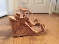 Ladies tan wedges