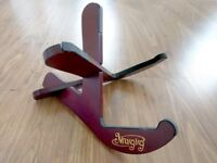 *Like New* Stylish Deep Berry Mugig Wooden Guitar Stand