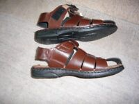 Mens sandals size 12, brown. brand new