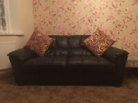 Nice Leather brown sofas for sale