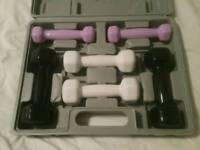USA Pro fitness dumbbell set with carry case