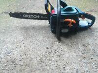 Petrol chainsaw with safty brake good sharp chain 2 stroke zip start engine vgc gwo