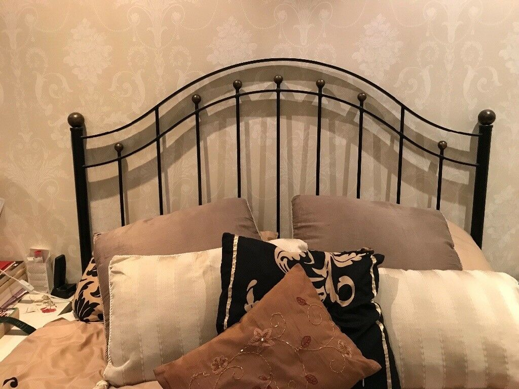 King size divan bed with bespoke headboard