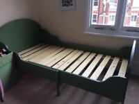 Ikea extensible toddler single bed. Mattress available.