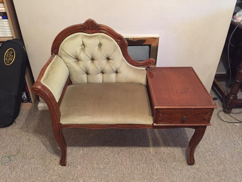 Antique Telephone Table and Seat - Antique Telephone Table And Seat In Nantwich, Cheshire Gumtree