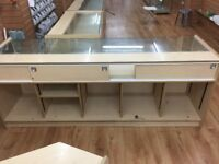 Set of 4 Glass counters/ Perfect for any Retail Outlet