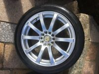 4 X MINT ALLOYS continental and goodyear tyres 6mm Newcastle Belfast can deliver immaculate rims