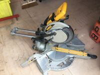 DE WALT MITRE SAW,24V,NOT MAKITA,FESTOOL,HITACHI