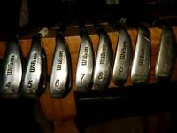 Wilson fat shaft irons set from 4 - PW
