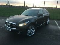 Infiniti FX 3.0 TD GT 2013 Top Specs Auto Diesle Camera SunRoof Navigation Finance Available