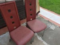 Chairs free to a good home in need of repair