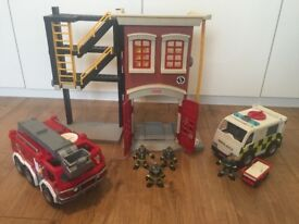 *Imaginext Fire Station & Ambulance For Sale*