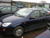 Ford focus LX 1600cc petrol 1999 t Reg Mk1 BREAKING FOR PARTS / SPARES ONLY.