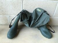 Waders - hip height - boot size 6