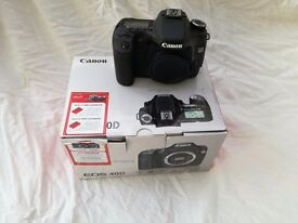 Canon EOS 40D and lens