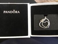 Pandora double heart necklace