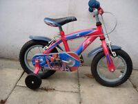 "Kids Bike Spider Man, Red & Blue, 12 1/2 "" Wheels Great for Kids 3+Yrs, JUST SERVICED/ CHEAP PRICE!!"