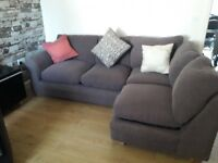 Can deliver brown cord dfs corner sofa with cushions included good condition
