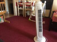 Tower Fan selling as I am moving to India. Its good condition.