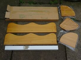 NEW and boxed pine corner wall unit - never used