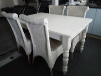 Country style dining table and 4 chairs £50