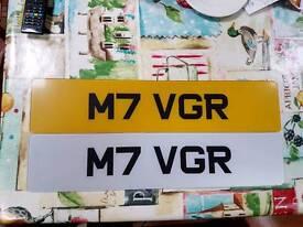 Personalised plate. M7 VGR, Mk 7 Volkswagen Golf R vw