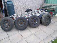 Four Uniroyal 175/80r14h tyres