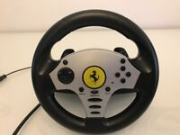 FERRARI Thrustmaster Racing Wheel and Pedals (PS3, PS2, PC, Wii, Gamecube)