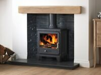 RUSTIC LIGHT & DARK OAK 'GEOCAST' FIREPLACE BEAMS - AVAILABLE FROM FOYLESIDE PLUMBING SUPPLIES!