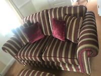 2 x sofa settees - immaculate condition *gold*