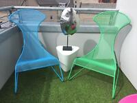 Modern comfortable lounger lounging chairs seats for Garden Patio Terrace COLOURFUL