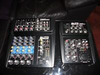 Alto mixing desk times 2 zmx52 and zmx862 both in great condition surplus to requirements.