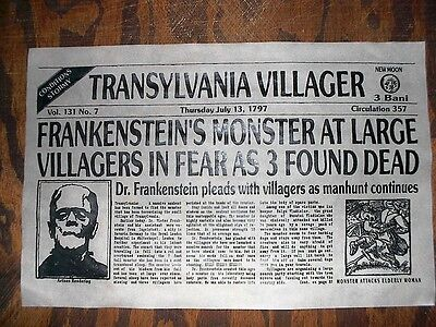(314L) NOVELTY POSTER HALLOWEEN FRANKENSTEIN MONSTER OGRE TRANSYLVANIA 11