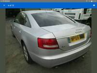 AUDI A6 C6 3.0TDI QUATTRO SILVER COMPLETE REAR BUMPER *TRADE PARTS NORTH EAST*