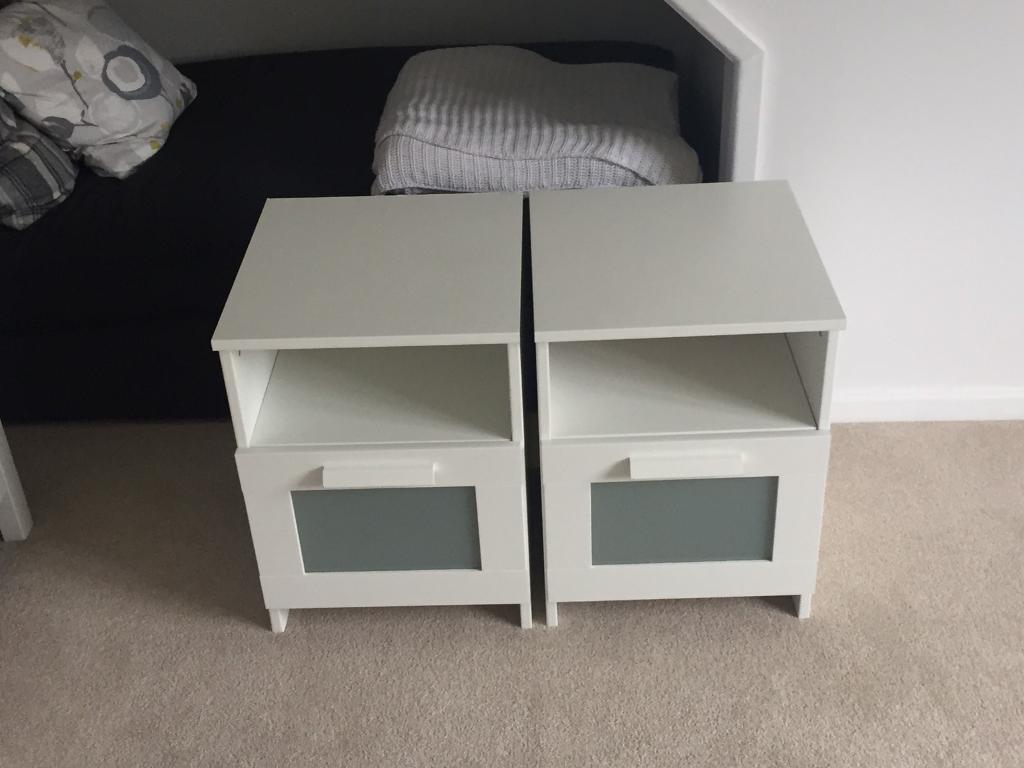 Pair Of Ikea Brimnes Bedside Tables In Romsey Hampshire Gumtree - Brimnes ikea bedside table