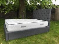 Double Bed Ottoman Dark Grey FREE DELIVERY