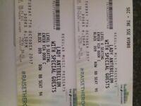 2x Lady Antebellum Tickets! Block 009, Row BB