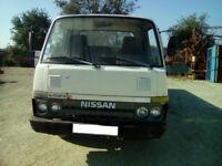 Left hand drive Nissan Cabstar Atlas 3.5 diesel 6 tyres truck.