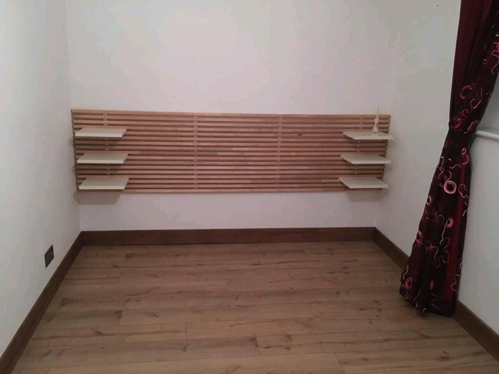ikea bedhead and 6 shelves