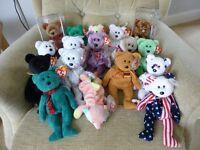ty Beanie Babie Bears - retired - Great presents!