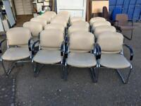 25 xCheap reception meeting room leather chairs on a massive clearance just £8 each