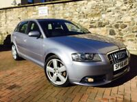 """AUDI A3 2.0 TDI SLINE QUATTRO 170 SPORT BACK 56 PLATE LEATHER 6 SPEED 18""""ALLOYS**MINT CONDITION***"""