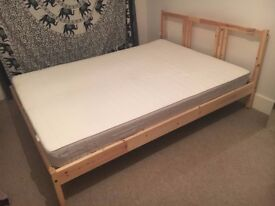 BED FRAME AND MATTRES.