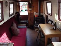 37ft Narrowboat for sale, re-furnished as live-aboard