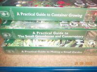 RHS Practical Guide to gardening VHS videos - set of 3