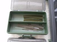 SET OF END TACKLE BOXES WITH CONTENTS