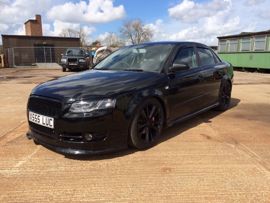 2006 black audi a4 2 0 tdi b7 7 speed auto nicely modified full leather not s4 rs4 in. Black Bedroom Furniture Sets. Home Design Ideas