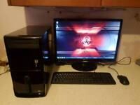 Pc complete with 22 inch monitor